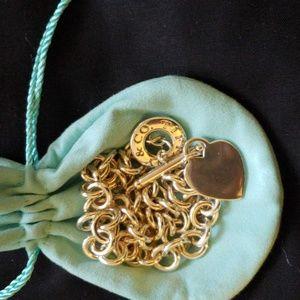 BEAUTIFUL Tiffany & Co. Heart Toggle Necklace!